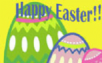 Happy Easter Large Flag - 5' x 3'.